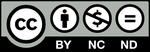 CCライセンス 表示+非営利+改変禁止