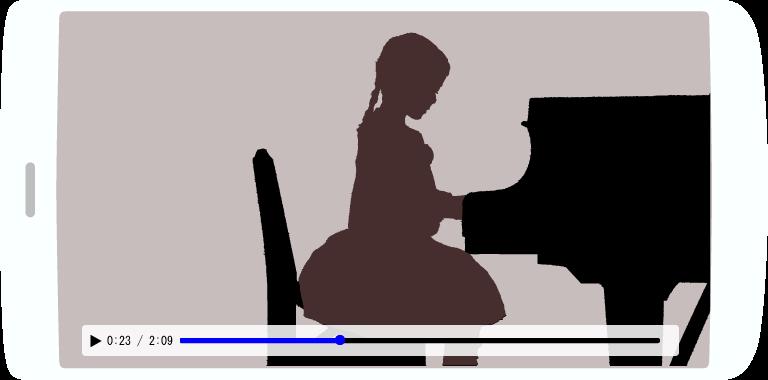 ピアノ発表会をネット動画にします